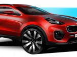Teaser for 2017 Kia Sportage concept debuting at 2015 Frankfurt Auto Show