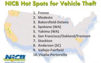 California Has Seven Of 10 Car Theft Hot Spots: NICB