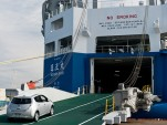 Nissan Transports 2012 Leafs With Solar-Powered Hybrid Ship