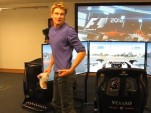 Nico Hlkenberg drives the Circuit of the Americas in Codemasters' F1 2012 simulator