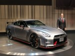 Nissan CEO Carlos Ghosn, introducing the 2015 Nissan GT-R NISMO prior to the 2013 Tokyo Motor Show