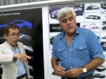 Nissan design chief Shiro Nakamura and Jay Leno