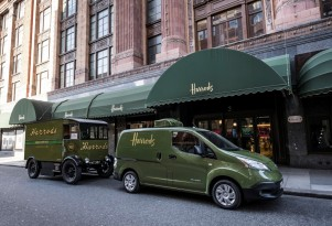 European brands adopt electric delivery trucks: Harrods, Hermes