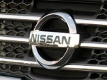 Nissan grille and logo