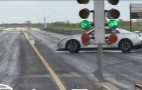 Lucky GT-R Driver Avoids Crashing 3 Times During Drag Race