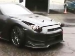 Nissan GT-R with turbochargers as headlights