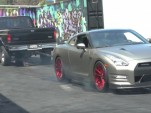 Nissan GT-R four wheel burnout