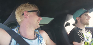 Chad Lindberg rides in Nissan GT-R for first time