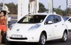 What Happens To A Nissan Leaf Electric Car At A Gas Station?