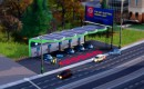 Nissan Leaf solar charging station on EA's SimCity game