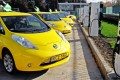Nissan Leaf taxis