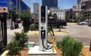 Nissan unveils New Orleans' first public charging station for electric cars (photo: Richard Read)