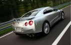 Nissan GT-R Driver Ventilates Block While Passing Car