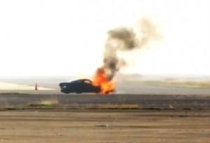 Nitrous-fed C6 Corvette explodes, burns at Texas Mile