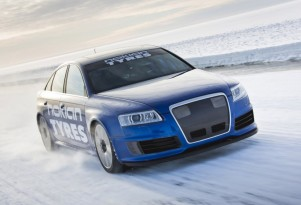 Nokian Tyres Audi RS 6 driven to 208.6 mph on ice