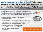 Write About Cars--And Win A Trip to the New York Auto Show