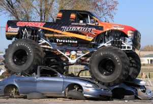 Electric Monster Truck Crushes Puny Gasoline Cars This Weekend