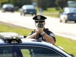Officer with speed gun