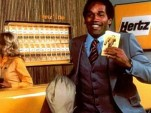 OJ Simpson in vintage Hertz ad