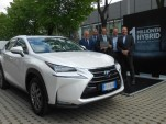 One millionth Lexus hybrid delivered to owner Aldo Pirronello in Milan, Italy