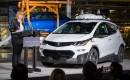One of 130 second-generaiton self-driving Chevrolet Bolt EV electric cars, with GM CEO Mary Barra