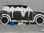 "One of the MINI ""Wash Me"" art cars"