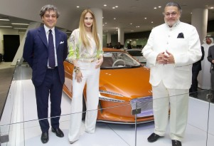 Jennifer Lopez at the opening of the Dubai Audi terminal