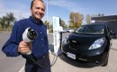 Ottawa resident Ricardo Borba takes delivery of the first consumer Nissan LEAF in Canada