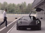 Pagani chief tester Davide Testi and the Huayra