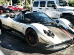 Pagani Zonda Cinque Roadster at a Miami dealership