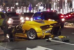 Pagani Zonda F destroyed in Dubai crash