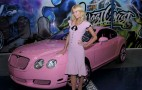 Paris Hilton Flashes From The Front Seat Of Her Bentley Continental GTC