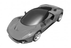 Patent drawings for Ferrari LaFerrari-based hypercar - Image via Motor1