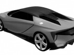 Patent drawing for mid-engine sports car filed by Honda - Image via Autovisie
