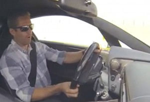 Paul Walker behind the wheel of a Lexus LFA