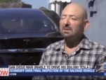 Peter Rutman, who bought a wrecked Tesla Model S salvage car  [frame from San Diego 6 The CW]