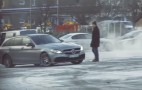 Disguised as a senior, rally driver Petter Solberg pranks people in a Mercedes-AMG
