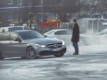 Petter Solberg pranks people in a 2015 Mercedes-AMG C63 Wagon