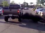 "Pickup truck ""rolling coal"""