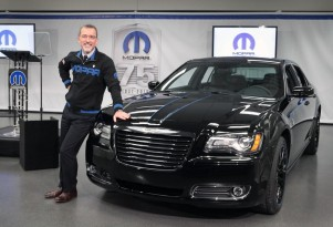 Pietro Gorlier shows off the Mopar '12 300