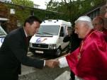 Pope Benedict XVI and Wolfgang Bernhard