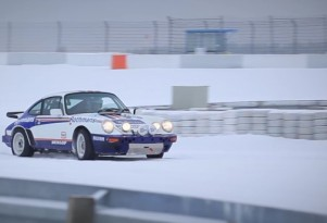 Porsche 911 SCRS Driving In The Snow At The 'Ring