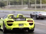 Porsche 918 Spyder versus Rimac Concept_One at the drag strip