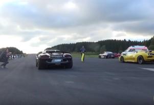 Porsche 918 Spyder vs Lamborghini Diablo VT