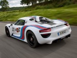 2014 Porsche 918 Spyder in vintage Martini Racing livery