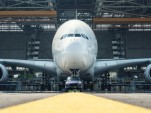 Porsche Cayenne tows an Air France Airbus A380