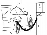 Porsche charging connector patent drawings