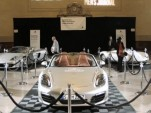 Porsches on display in New York's Grand Central Station