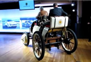 2012 Porsche Panamera S Hybrid With 111-Year-Old Ancestor (VIDEO)