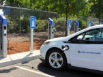 PowerPost Level 1 electric-car charging stations at Portland International Airport